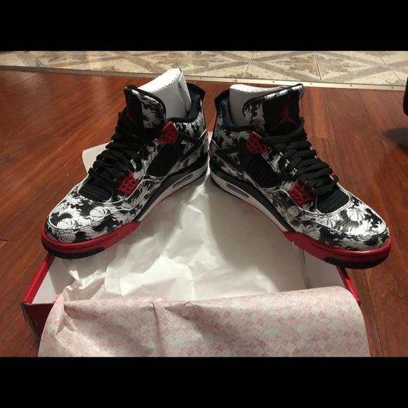 order online coupon code shopping Air Jordan retro 4 SNGL DY (tattoo) NWT